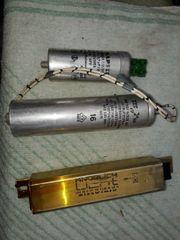 Vorschaltgeräte und Kondensatoren für Neonlampen