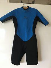 Schwarz-blauer Shorty-Neopren für Kinder 153-162cm