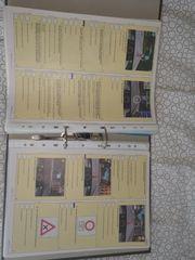 Fahrschulbogen mit Ordner und Register