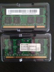 2 mal 1GB SO-DIMM-DDR2-1GB-PC5300-UA