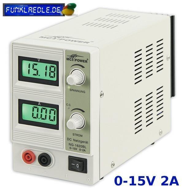 McPower NG-1620BL Labornetzgerät 0-15 V