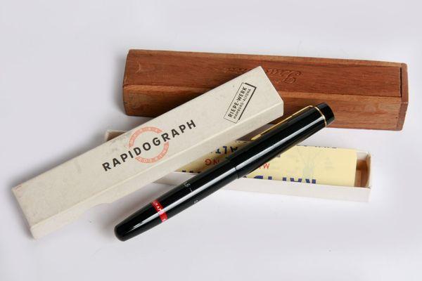 Rapidograph Kolbenfüller Tintenschreiber vintage 0