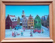 Naive Hinterglasmalerei von Dieter Berlepp