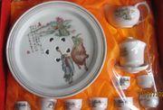 Chinesischer Ritual -Teeservice für 8