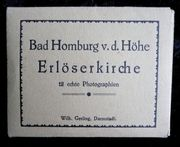 altes Andenkenmäppchen Bad Homburg v