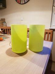 2 Nachttischlampen in mint grün