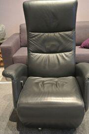 FS Sessel schwarz Leder kippbar