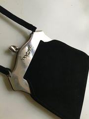 Abendtasche Couture Designer schwarz Wildleder