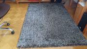 NOVEL Webteppich 120x170cm Grauschwarz