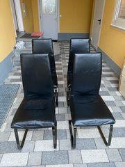 Freischwingbar Esszimmerstühle 4er Set NP