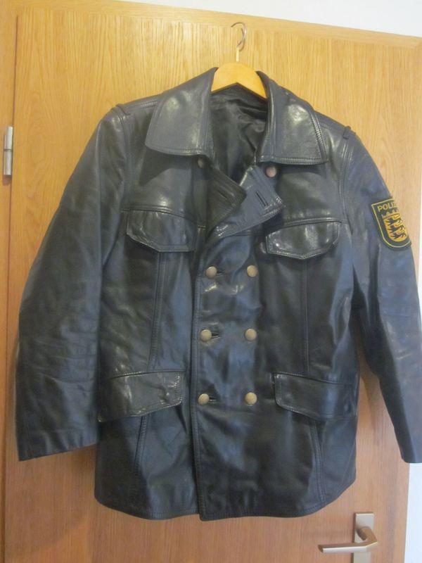 Original Polizei Lederjacke Gr 94