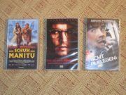 Drei VHS Spielfilm-Kasetten