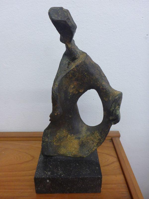 Brigitte Wawoe - Vollbroze-Skulptur Tänzerin - UNIKAT