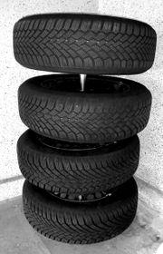 4 Winterreifen Stahlfelgen Radzierblenden Mercedes