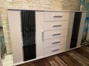 Kommode Sideboard in Schwarz weiß