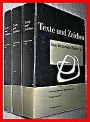 TEXTE UND ZEICHEN EINE LITERARISCHE