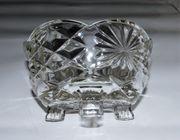 Kristallschale Glasschale geschliffen Kristallglas 7