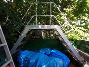 Fahrbare Alu Treppe
