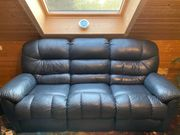 Voll bequemes Echtleder Relax-3-Sitzer Sofa