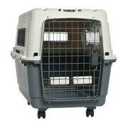 Hundebox AniOne Transportbox Grau Weiß