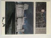 CHRISTO - handsignierte Kunstpostkarte WRAPPED REICHSTAG