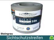 Sichtschutzstreifen Spenderrolle - 10x Steingrau Rille