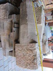 5 alte Sandsteinsäulen 140cm hoch