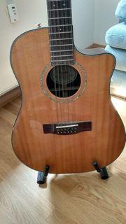 12-saitige Fender-Gitarre mit Originalkoffer