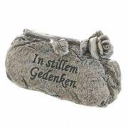 Kleiner Gedenkstein Abschied Trauerrose mit