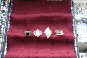 Ringe Silber verschiedene Ausführungen teilweise
