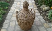 Dekorative Korbflasche - Vintage -
