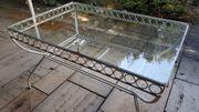 Tisch aus Metall Glas für