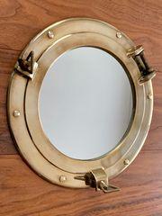 Schiffsfenster Bullauge mit Spiegel Messing