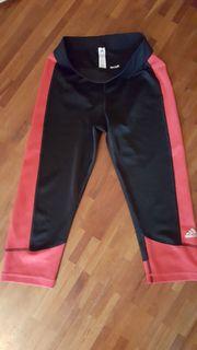 schwarz-rote Sportleggings für Damen Größe