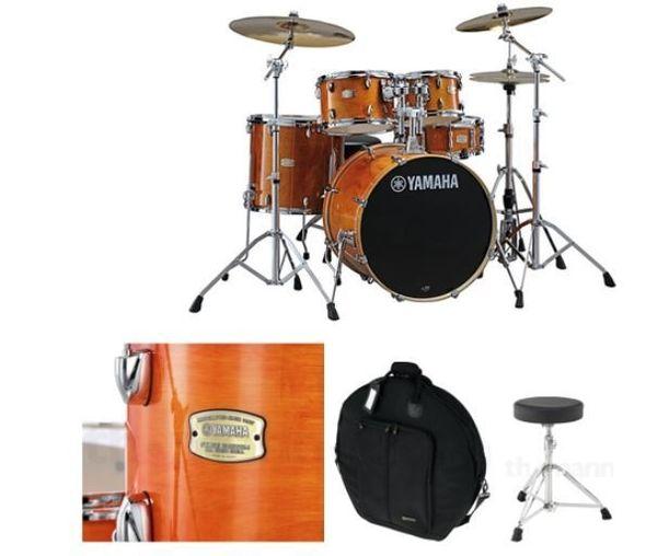 Schlagzeugset mit Hocker und Taschenset