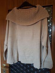 Winter-Pullover Gr 48 50 Hellbraun
