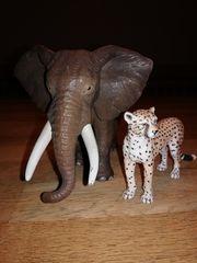 SCHLEICH Elefant und Leopard