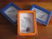 3 Standbilderrahmen 10x15 cm blau