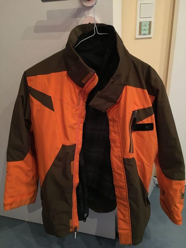 Bestbewertet authentisch Verkaufsförderung uk billig verkaufen Spyder Kinder Skijacke Orange/Navi Größe 146 - TOP in ...