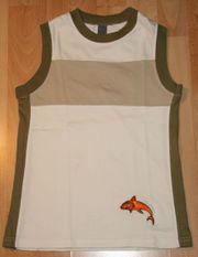 Helles Shirt - Top - Größe 122 - Achsel-Shirt