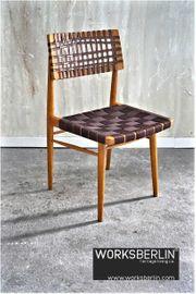 4er Set vintage geflochtene Stühle