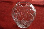 Kristall-Vase geschliffen Kugelform - Abholung in