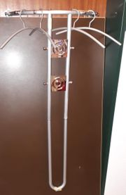 Wandgarderobe mit 10 Haken 4 Bügel-Metall