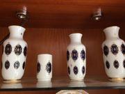4 Vasen kobald blau
