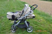 Kinderwagen Teutonia mit Babytragetasche