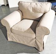 Sessel EKTORP hellbeiger CottonStoff sehr