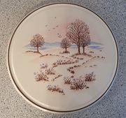 Vintage 60er 70er Keramik Tortenplatte