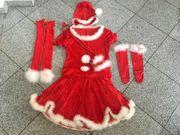 Nikolausfrau Karneval Sexy Damenkostüm Alles