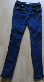 Skinny-Jeans Gr 36 blau Extras