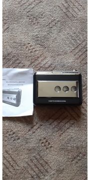 Tragbarer Kassettenrekorder schwarz mit USB